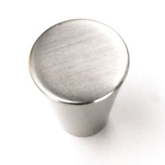 Delano 3/4 Inch Diameter Brushed Satin Nickel Cabinet Knob