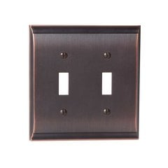 Candler Two Toggle Wall Plate Oil Rubbed Bronze