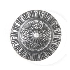 King's Road 1-1/2 Inch Diameter Antique Pewter Cabinet Knob