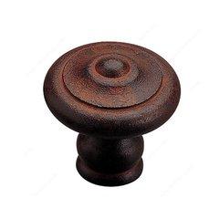 Forged Iron 1-3/8 Inch Diameter Rust Cabinet Knob