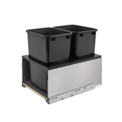 Legrabox Double Trash Pullout 35 Quart Stainless/Black