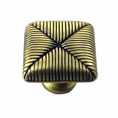 Textures 1 Inch Diameter Satin Antique Brass Cabinet Knob