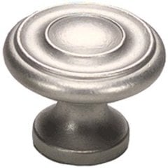 Solid Brass Traditional Designs 1-1/4 Inch Diameter Distressed Nickel Cabinet Knob <small>(#703-DN)</small>