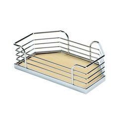 "Arena Plus Chefs Pantry Door Tray Set 11-1/8"" W Chrome/Maple"