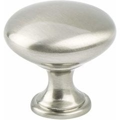 Advantage Plus 1 1-1/8 Inch Diameter Brushed Nickel Cabinet Knob