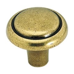 Brass & Sterling Traditions 1-1/8 Inch Diameter Burnished Brass Cabinet Knob <small>(#BP1308O77)</small>
