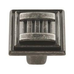 Sydney 1-1/16 Inch Diameter Black Nickel Vibed Cabinet Knob
