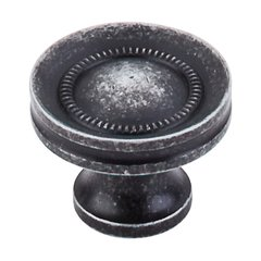 Somerset 1-1/4 Inch Diameter Black Iron Cabinet Knob <small>(#M293)</small>
