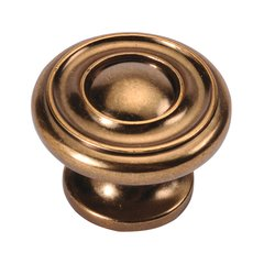 Cottage 1-1/2 Inch Diameter Antique Rose Gold Cabinet Knob <small>(#P3501-ARG)</small>