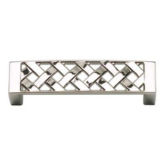 Lattice 3 Inch Center to Center Polished Nickel Cabinet Pull