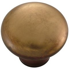 Solid Brass Knob 1-1/4 inch Diameter Yorkshire Brass