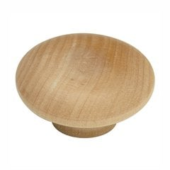 "Natural Woodcraft Knob 2"" Dia Unfinished Wood"