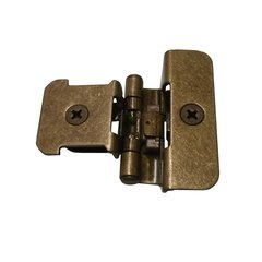 Double Demountable 1/4 inch Overlay Hinge Burnished Brass- Pair