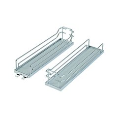 Tray Set For Base Pullout 4 inch Wide Chrome and Grey