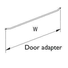 "Spice Rack Door Adapter 9-1/2"" W Silver"