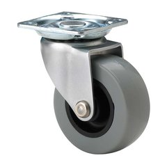 Industrial Caster with Swivel - Nickel and Grey