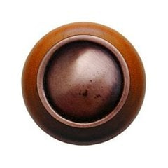 Classic 1-1/2 Inch Diameter Antique Copper Cabinet Knob <small>(#NHW-761C-AC)</small>