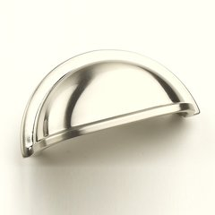 Milan 3 Inch Center to Center Satin Nickel Cabinet Cup Pull