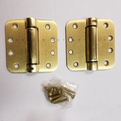 "LB4312-400 5/8"" Radius Corner Single Act Spring Hinge-Brass <small>(#LB4312C-400-633)</small>"
