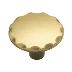 Cavalier 1-1/8 Inch Diameter Antique Brass Cabinet Knob <small>(#P146-AB)</small>