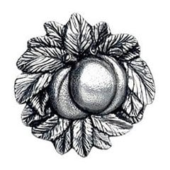 Kitchen Garden 1-5/8 Inch Diameter Brilliant Pewter Cabinet Knob