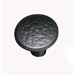 Rough Iron 1-3/8 Inch Diameter Black Iron Cabinet Knob