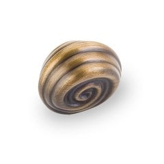 Lille 1-1/4 Inch Diameter Antique Brushed Satin Brass Cabinet Knob