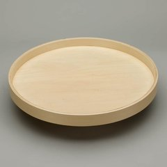 "Full Circle Single Shelf 24"" Diameter - Wood <small>(#LD-4BW-001-24SB-1)</small>"