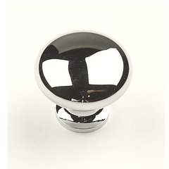 Saturn 1-1/4 Inch Diameter Polished Chrome Cabinet Knob