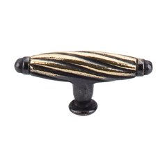 Britannia 2-3/4 Inch Length Dark Antique Brass Cabinet Knob <small>(#M36)</small>