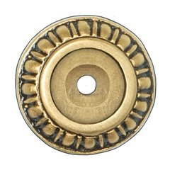 King's Road 1-1/8 Inch Diameter 24K Satin Gold Back-plate <small>(#NHE-508-SG)</small>