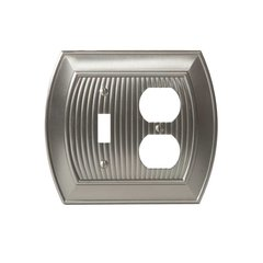 Allison One Toggle, 1 Receptacle Wall Plate Satin Nickel <small>(#BP36538G10)</small>