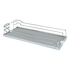 Tray Set For Base Pullout 10 inch Wide Chrome and Grey