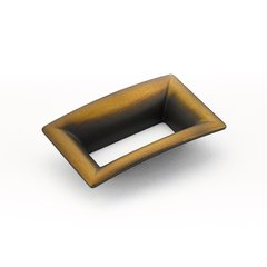 Finestrino 2-1/2 Inch Center to Center Burnished Bronze Cabinet Pull