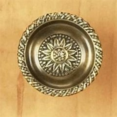 Sunflower 1-1/2 Inch Diameter Estate Dover Cabinet Knob <small>(#921M ED)</small>