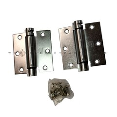 LB4310-350 Square Corner Single Act Spring Hinge - Chrome