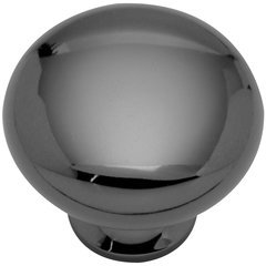 "Solid Brass Knob 1-1/4"" Dia Black Nickel"