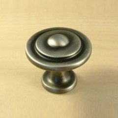 Lisbon 1-1/4 Inch Diameter Antique Pewter Cabinet Knob