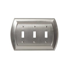 Allison Three Toggle Wall Plate Satin Nickel