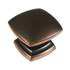 Euro-Contemporary 1-1/2 Inch Diameter Oil Rubbed Bronze Highlighted Cabinet Knob <small>(#P2163-OBH)</small>