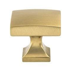 Century Edge Knob 1-3/8 inch Diameter Modern Brushed Gold