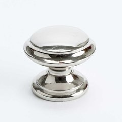 Designers Group 10 1-3/8 Inch Diameter Polished Nickel Cabinet Knob