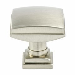 Tailored Traditional Knob 1-1/4 inch Diameter Brushed Nickel