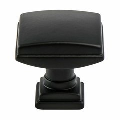 Tailored Traditional Knob 1-1/4 inch Diameter Matte Black <small>(#1275-1055-P)</small>