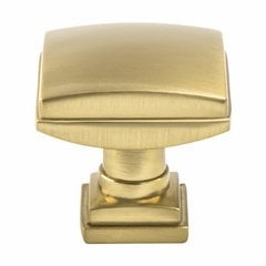 Tailored Traditional Knob 1-1/4 inch Diameter Modern Brushed Gold <small>(#1276-1MDB-P)</small>