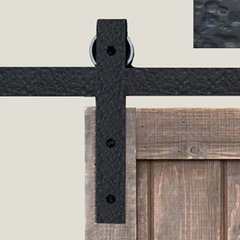 Basic Barn Door Rolling Hardware Rough Iron