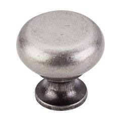 Somerset 1-1/4 Inch Diameter Pewter Antique Cabinet Knob <small>(#M275)</small>