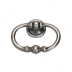 Povera 2-3/16 Inch Diameter Faux Iron Cabinet Ring Pull <small>(#927055904)</small>