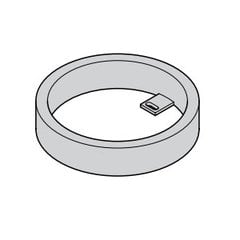 Loox 24V Surface Mount Ring - Silver <small>(#833.77.710)</small>