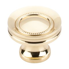 Somerset 1-1/4 Inch Diameter Polished Brass Cabinet Knob <small>(#M290)</small>